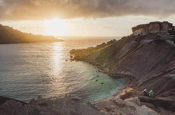 Scenic ocean coastline